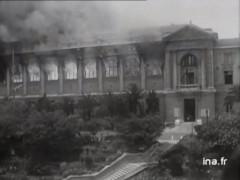 incendie bibkiothèque d'Alger