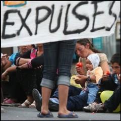 évacuations forcées, roms, valls